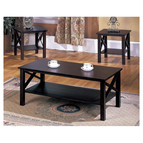 InRoom Designs 3 Piece Coffee Table Set & Reviews