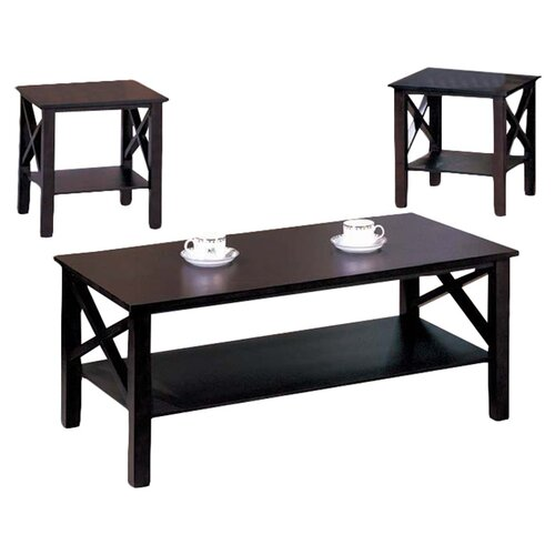 Inroom Designs 3 Piece Coffee Table Set Amp Reviews Wayfair