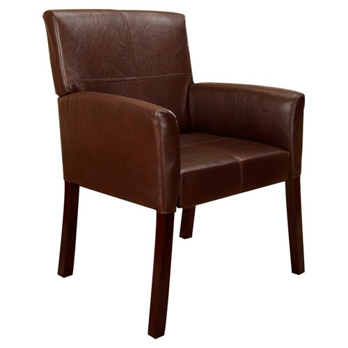 InRoom Designs Accent Leather Arm Chair & Reviews