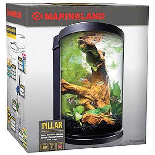 Tetra 6 Gallon Pillar Marineland Aquarium Kit