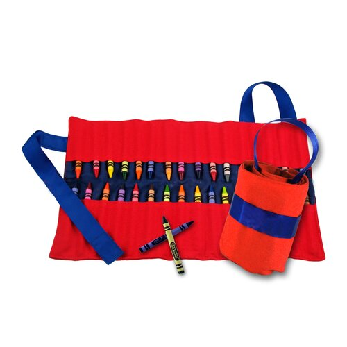 Princess Linens Doodlebugz Crayola Crayon Keeper in Red / Blue