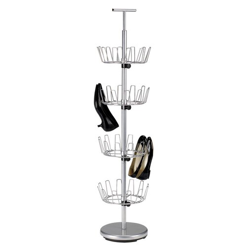 Household Essentials Storage and Organization 4 Tier Revolving Shoe Tree