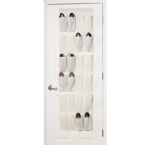 Storage and Organization 24 Pocket Over the Door Shoe Organizer