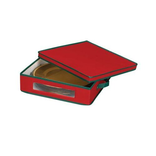 Household Essentials Charger Plate Chest in Red with Green trim