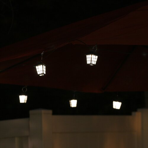 Smart Solar San Rafael 20 Piece String Light Lantern with Stake and Umbrella Clips