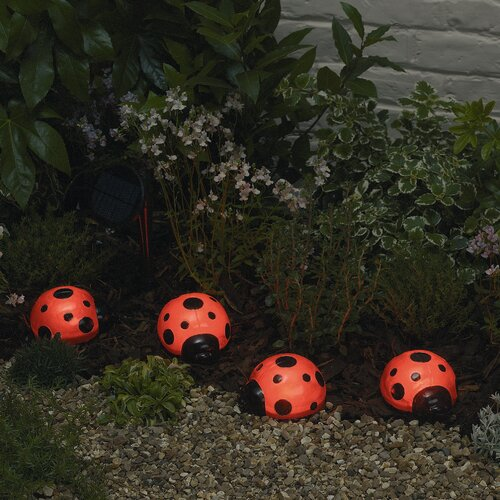 Smart Solar Accents Solar Ladybugs (Set of 4)