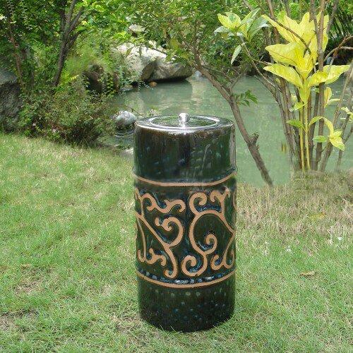Smart Solar Etruscan Ceramic Garden Torch