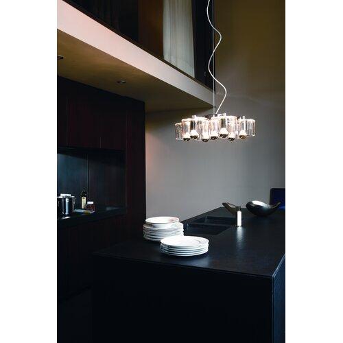 Oluce Fiore Seven Light Suspension Lamp