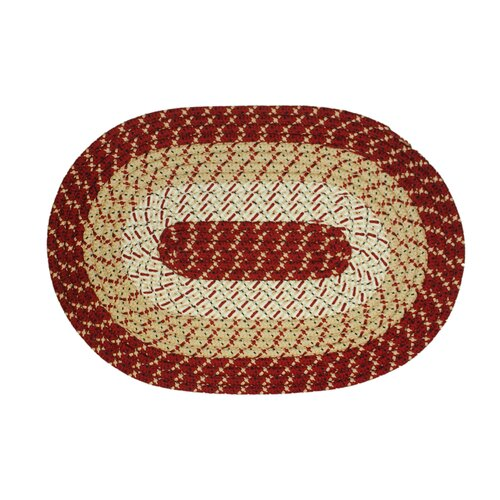 International Textile Manufacturing Eastwick Burgundy Rug (Set of 3)