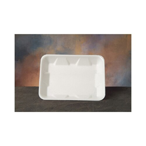 Genpak Foam Supermarket Tray in White