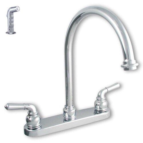 LDR Double Handle Centerset Kitchen Faucet