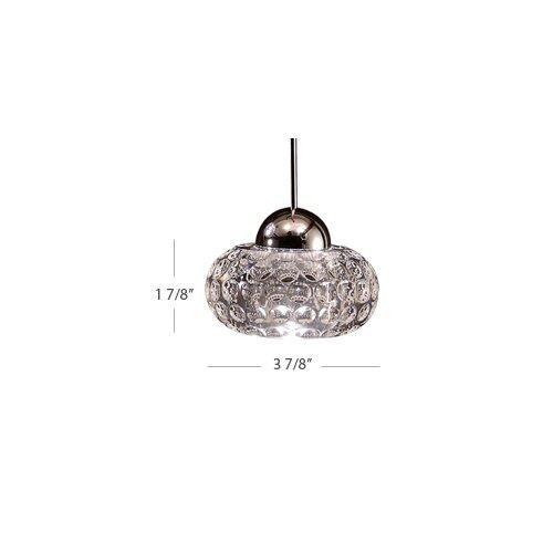 WAC Lighting LED Crystal 1 Light Gem LED Pendant with Canopy Mount