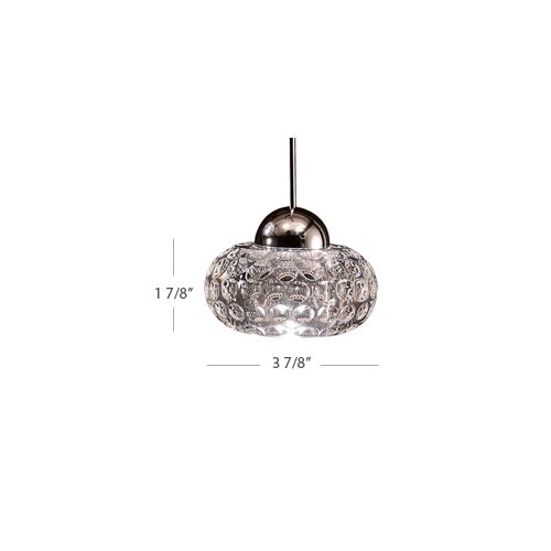 WAC Lighting LED Crystal 1 Light Gem Pendant with LED303 Socket Sets