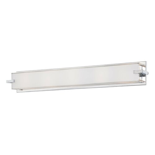 Led Lights For Vanity : George Kovacs Saber LED 2 Light Vanity Light in Chrome & Reviews Wayfair