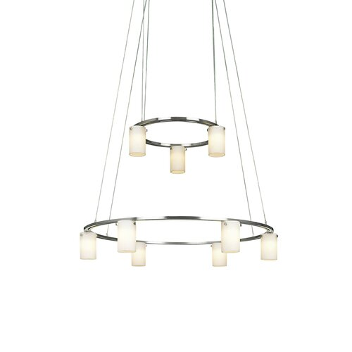 Counter Weights 9 Light Low Voltage Chandelier
