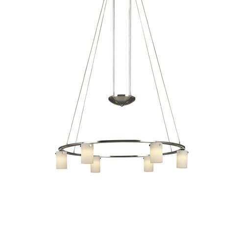 6 Light Counter Weight Chandelier