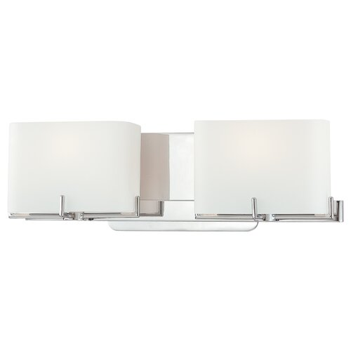 Bathroom Vanity Lights Kovacs : George Kovacs Curvy Corner 2 Light Bath Vanity Light & Reviews Wayfair