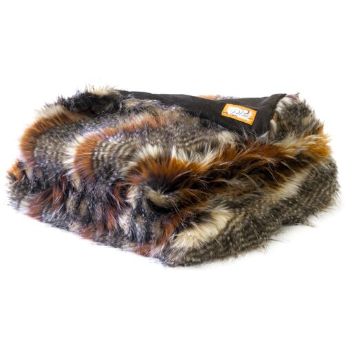 Red Fox Tail Faux Fur Acrylic Throw Blanket