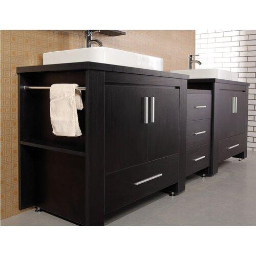 "Design Element Washington 96"" Modern Bathroom Vanity Set"