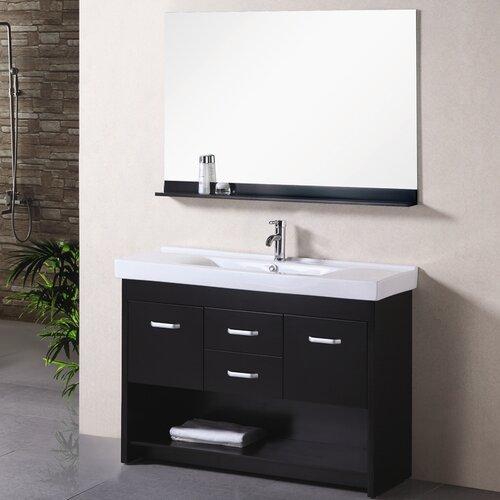 "Design Element Citrus 48"" Single Bathroom Vanity Set with Mirror"