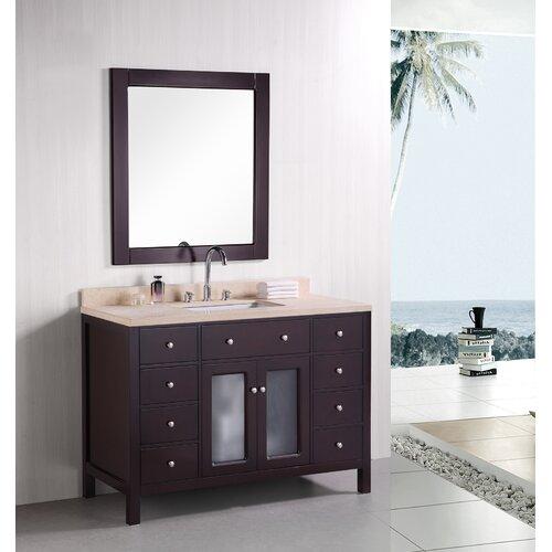 "Design Element Venetian 48"" Single Sink Bathroom Vanity Set"