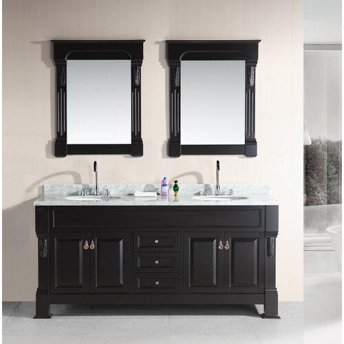 Design Element Marcos 72 Double Bathroom Vanity Set With Mirror Reviews Wayfair