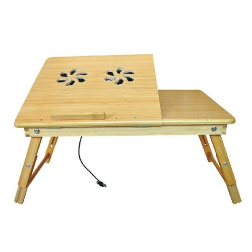 Deluxe Comfort Laptop Desk with Internal Cooling Fan