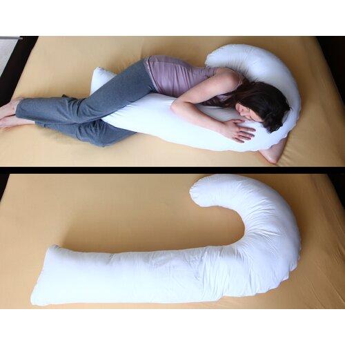 Deluxe Comfort J Full Body Pillow with Hypoallergenic Synthetic Fiber Filler