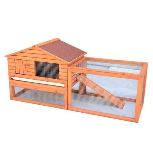 Pawhut outdoor guinea rabbit hutch habitat pig pet house for Outdoor guinea pig hutch