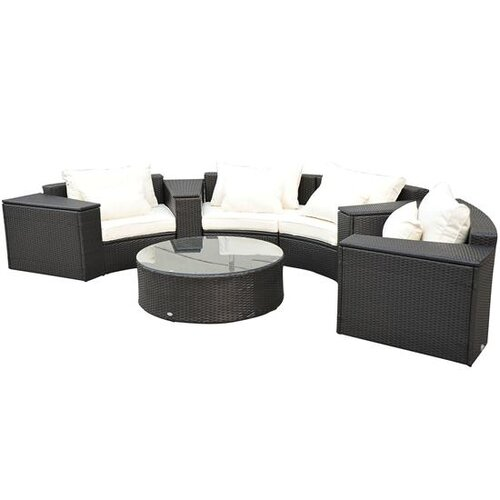 Outsunny 9 Piece Left/Right Arm Couch Sofa Set with Cushions
