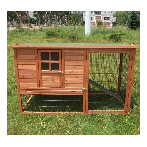 Aosom LLC Pawhut Hutch Chicken Coop with Nesting Box