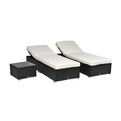 Outsunny 3 Piece Lounge Seating Group with Cushion