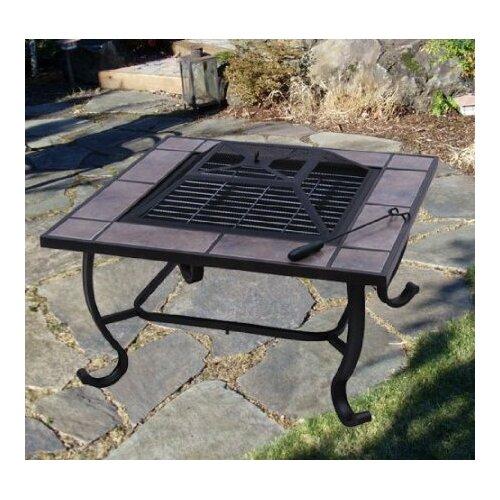 Outsunny Backyard Patio Firepit Table