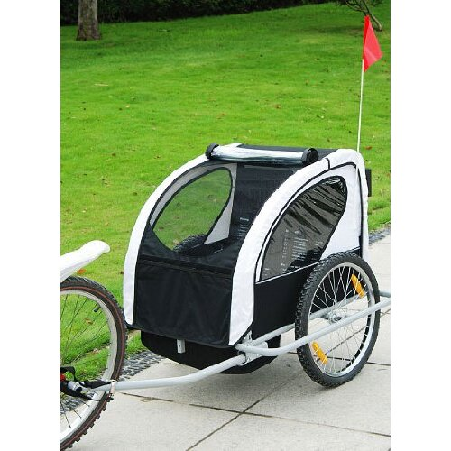 Aosom LLC Elite Double Child Bike Trailer