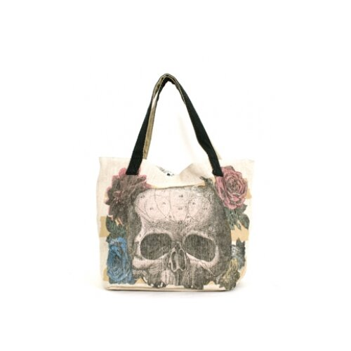 Loungefly Skull Flower Tote Bag