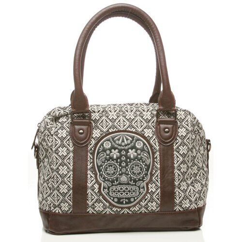 Loungefly Sugar Skull Tweed Satchel Bag