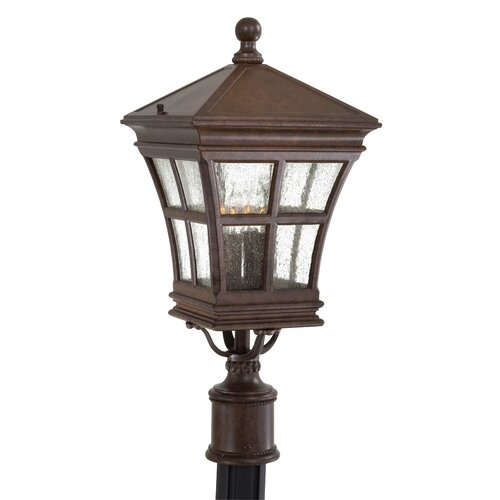 Great Outdoors by Minka Mission Bay Outdoor Post Mount Lantern