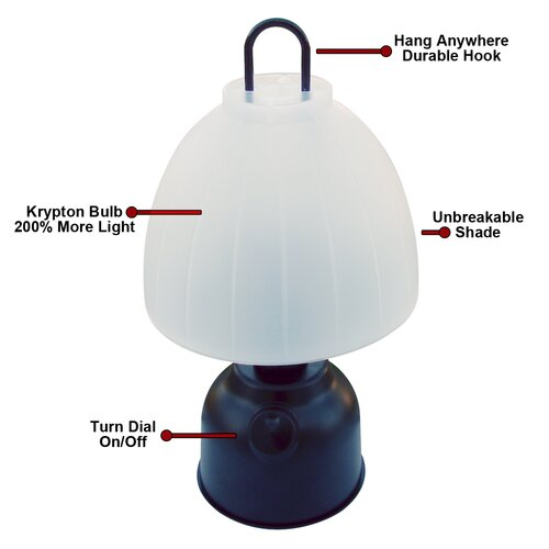 Dorcy Portable Indoor and Outdoor Table Lamp Light