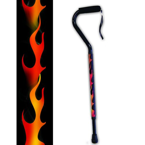Rebel Canes Full Flame Offset Single Point Cane