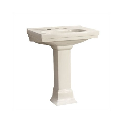 Structure 1 Hole Bathroom Sink and Pedestal Set