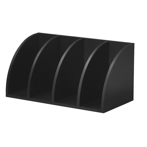 Foremost Modular Storage Corner Radius Cube in Black