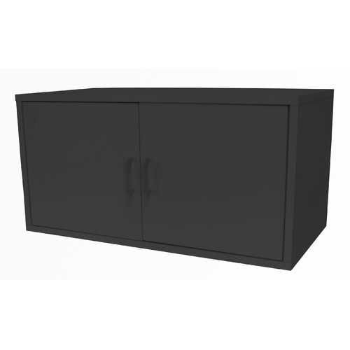 Modular Storage Large Cube with Two Doors in Black