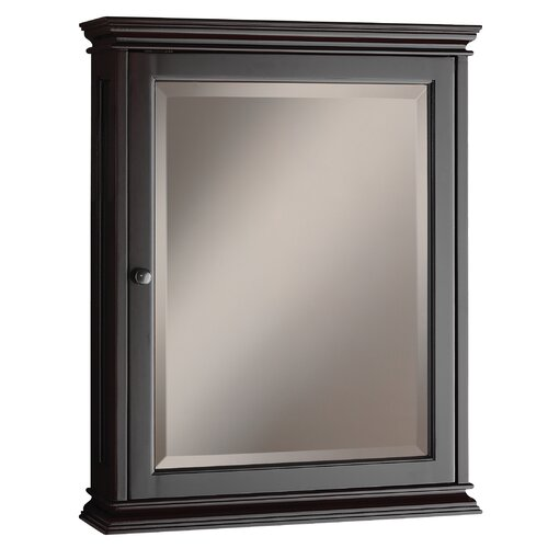 "Foremost Berkshire 23.63"" x 30.13"" Surface Mounted Beveled Edge Medicine Cabinet"