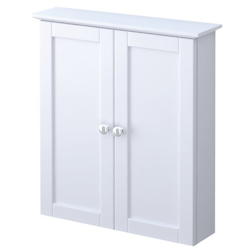 Elegant  Amare Bathroom WallMounted Storage Cabinet In Dove Gray TwoDoor