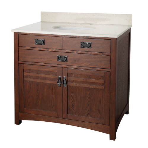 "Foremost Cornell 37"" Bathroom Vanity Set with Top"