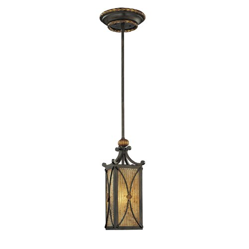 Metropolitan by Minka Monte Titano 1 Light Rod-drop Foyer Pendant