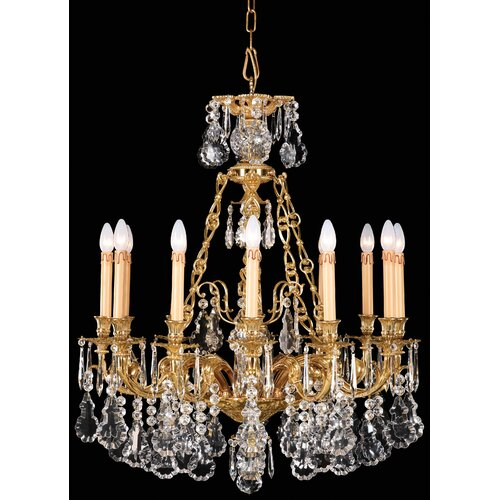 Vintage Crystal 12 Light Chandelier