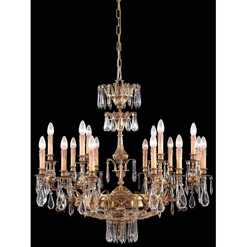 Vintage Crystal 8 Light Chandelier