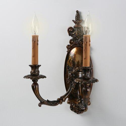 Metropolitan by Minka Vintage 2 Light Candle Wall Sconce