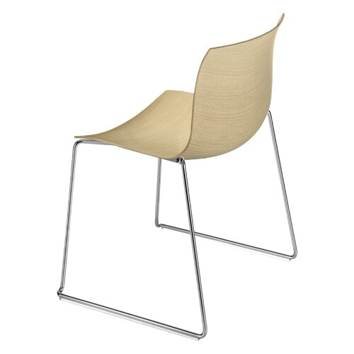 Arper Catifa 53 Wooden Chair with Sled Base